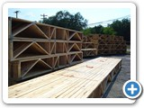 Floor trusses ready to ship. MFG-009