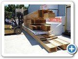 I-joist package being gathered for shipment MFG-010
