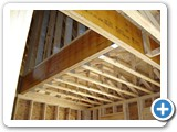 Floor trusses with stair opeining. MFG-012