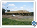 72-ft wide clear span trusses installed MFG-049