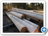 Hand-peeled logs MFG-064