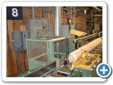 Logs cut to length with da-do spline notches MFG-072