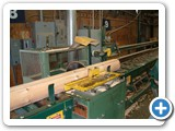 Logs cut to length with da-do spline notches MFG-073